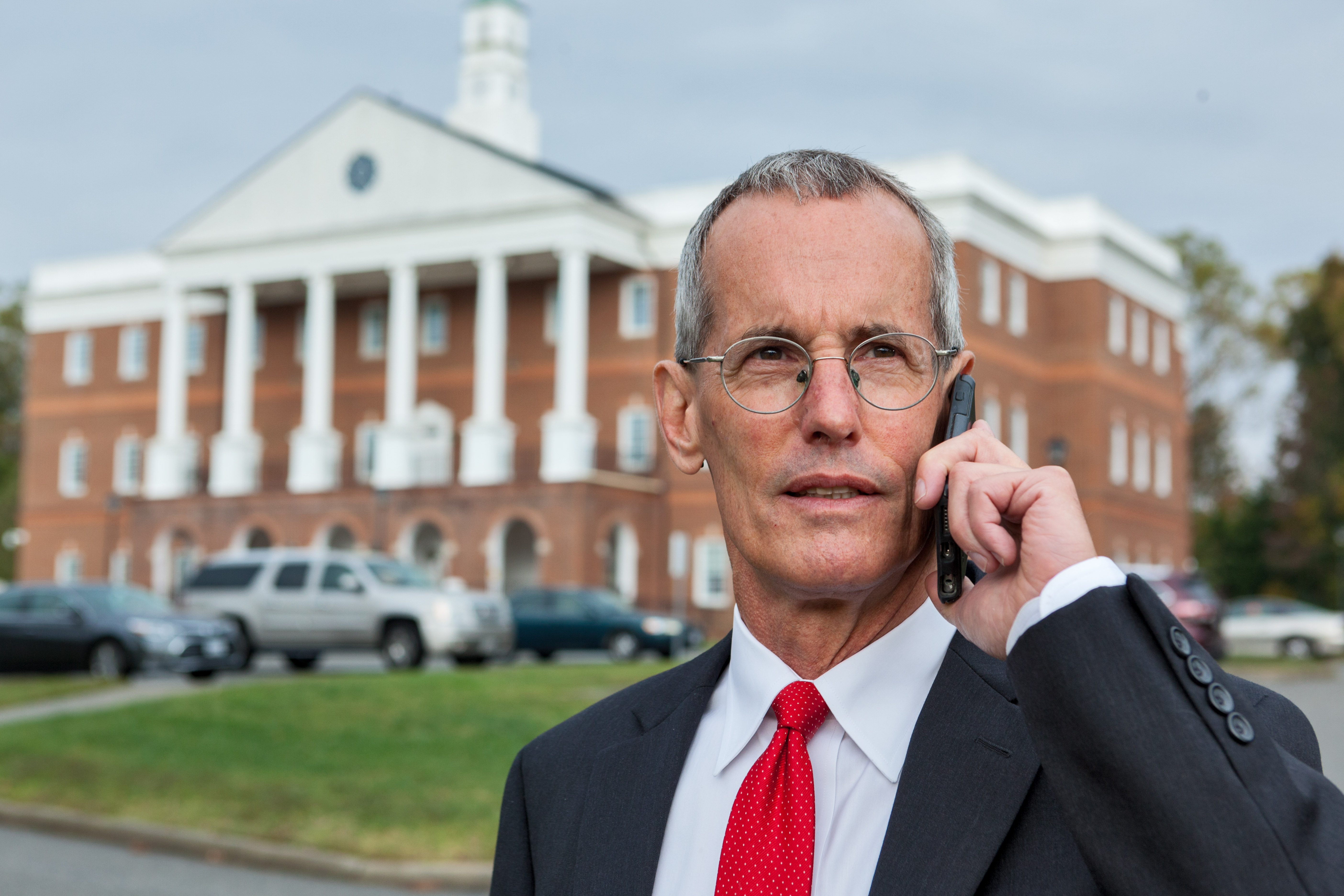 Attorney Bill Johnson at Gloucester Courthouse
